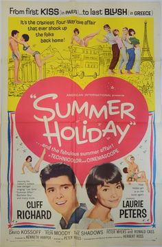 Summer Holiday (American International, 1963). One Sheet film poster Musical starring Cliff Richard, Lauri Peters, Estimate £ 30-50