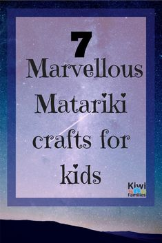 7 Marvellous Matariki crafts for kids. Here are 7 Matariki star crafts to do with your children. Book Crafts, Crafts To Do, Crafts For Kids, Nanny Activities, Craft Activities, Art Maori, Kanban Crafts, Weaving For Kids, Make Your Own Card