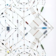 "Artist's Complex ""Technological Mandalas"" Are Made From Recycled Computer Parts : TreeHugger"