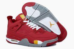 huge discount fb638 81e18 Desceunto Nike Air Jordan 4 Retro Rojo Rebajas Blanco Zapatillas New  Jordans Shoes, Retro Jordans