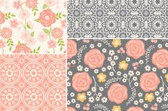 Vintage Floral Seamless Patterns by Cocoa Mint on Creative Market