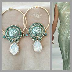 Soutache earrings Layla Jewelry Design