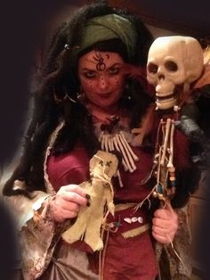 """""""...or you may end up on my hip"""" - Voodoo Queen Marie-Evella Celestine  Come read the rest of the short story with lots more photos on my site.   #voodoo #voodooqueen #costume #halloween #handmade #costumeideas"""