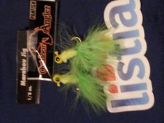»FREE» TWO(2) GREEN/YELLOW & TWO(2) BLACK/PINK 1/8 OZ. FISHING JUGHEADS