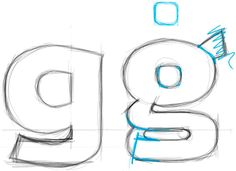 Skizze Buchstabe G – Die Crashcycles Schrift - Schriftgestaltung - Herr Bürli