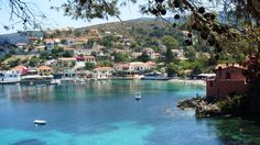 Assos bay from Kefalonia island