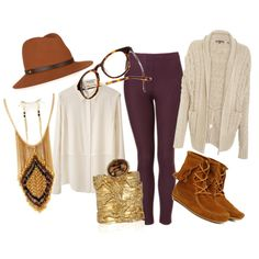 Vince Cocoon Sweater   T by Alexander Wang Shirt   Minnetonka Double Fringe Lace Boots   YSL artsy cuff   Verna's Ethnic Fringe Necklace   Madewell Frames   Rag and Bone Wool Fedora