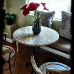 Love this grey Nordstrom vase for the bistro table