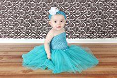 Turquoise Baby Tutu Skirt
