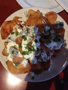 Yummy blue cheese nachos from Duckworths