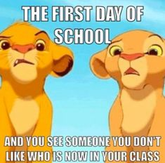 day of School Memes Simba Lion King funny first day of school funny disney meme lion king Funny School Memes, Really Funny Memes, Stupid Funny Memes, School Humor, Funny Relatable Memes, Hilarious, Memes Humor, Hahaha Joker, Lion King Funny