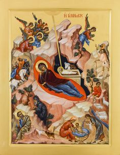 Christ is born! Wonderful Counselor, Religious Paintings, Prince Of Peace, A Child Is Born, Religious Icons, Catholic Art, Spiritual Gifts, Orthodox Icons, Christian Faith