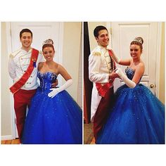 Disney Princess Halloween Costumes: Cinderella and Prince Charming. I'm pretty sure I would do this any time of the year, not just Halloween. Jasmine Halloween Costume, Disney Princess Halloween Costumes, Couples Halloween, Hallowen Costume, Holiday Costumes, Disney Costumes, Halloween Kostüm, Couple Halloween Costumes, Halloween Cosplay