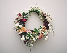 Make a floral hair crown using flowers and colors to match your theme or special occasion. You can attach veil to the back and have wedding crown and veil in one! Deco Floral, Arte Floral, Floral Design, Corona Floral, Bouquet, No Rain, Green And Gold, Floral Arrangements, Flower Arrangement