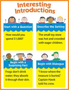 Interesting Introductions Chart Gr 1-3