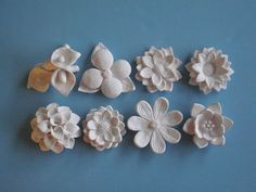 White Flower Bloom Wall Hanging Your Choice  by CoastalCeramics, #FlowerShop