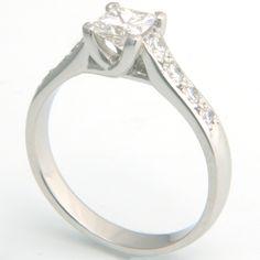 Bespoke Platinum Tiffany Kiss Style Princess Cut Diamond Engagement Ring handmade by Form Bespoke Jewellers #bespoke #diamonds #engagement #ring #Yorkshire
