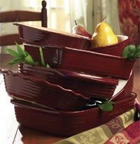 Pampered Chef Cranberry Stoneware