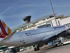 This Feb. 24, 2014, file photo shows a Germanwings Airbus A320 in front of the terminal at Koeln-Bonn airport in Cologne, Germany. A Germanwings passenger jet carrying 148 people has crashed in the French Alps.  Oliver Berg, AP