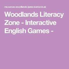A Variety of fun English Games and Activities to help improve English Skills in easy to read format and navigation from Woodlands Junior School Literacy And Numeracy, Literacy Games, Maths, Fun English Games, Learn Math Online, Summer Courses, Improve English, Primary Teaching, English Reading