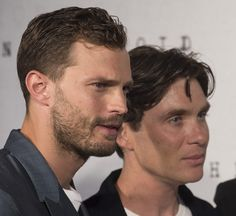 London Anthropoid premiere. Jamie Dornan, Cillian Murphy. A whole lot of pretty in one place.