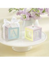 Baby Block Candle Baby Shower Favor-Party City