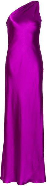 RALPH LAUREN Collection Fuchsia Silk Satin Julien Evening Gown