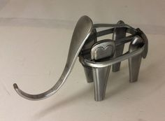 Recycled metal cutlery elephant sculpture by TheMetalGuyCanberra on Etsy and available at the upcoming Canberra #etsymadelocal Market.