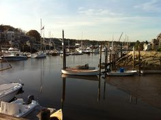 Sitting at the Arundel Wharf on a perfect summer day