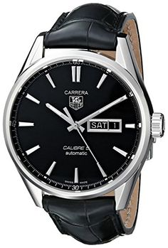 Men  Watches - TAG Heuer Mens WAR201AFC6266 Analog Display Automatic Self Wind Black Watch *** To view further for this item, visit the image link. (This is an Amazon affiliate link)
