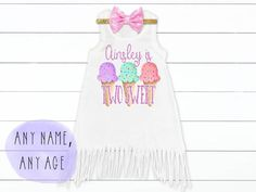 Ice Cream Birthday Outfit Two Sweet One 2nd Birthday Outfit | Etsy 2nd Birthday Outfit, 1st Birthday Girls, Birthday Dresses, Birthday Party Themes, Birthday Ideas, Ice Cream Cupcakes, Ice Cream Party, Cupcake Birthday, Cupcake Party