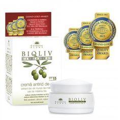 Crema Bioliv ANTIAGING (Crema antirid de zi) - 50 ml - Asigură îngrijirea zilnică, uniformizând relieful pielii, reducând profunzimea ridurilor și întârziind apariția unora noi.
