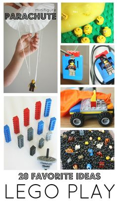 Fun Lego play ideas for Lego week or anytime! Homemade Lego play ideas are great for all ages. Legos have so many benefits for kids. Try a new play idea!