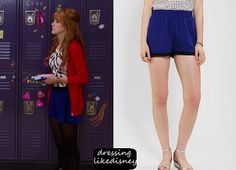 """Bella Thorne wears these Blue Shorts with Black trim similar to theseSilence + Noise Mesh-Trim Boxing Short as Cece Jones, in this weeks episode of Shake it Up, """"Opposites Attract it Up""""."""