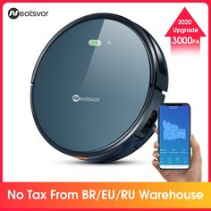 NEATSVOR Robot Vacuum Cleaner Poweful Suction pet hair home dry wet mopping cleaning robot Auto Charge vacuum X500, Application Mobile, Brown Tape, I Robot, High Tech Gadgets, Black Floor, Hepa Filter, Wet And Dry, Water Tank