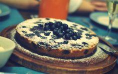 Marcipankage med blåbær