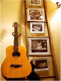 Para as fotografias da família.