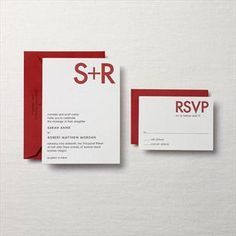 I adore this letterpress set of wedding invitations from Crane & Co - so fresh and bold!