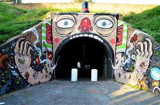 Even a tunnel entrance is a perfect canvas for adding life to an otherwise ordinary hole in the hill.