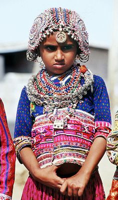 India | Rabari child.  Kutch. Gujarat. | ©Nirmal Masurekar