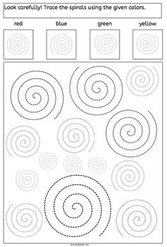 spirals tracing dyslexia dyscalculia parents children fine motory skills worksheet More on math and learning in general under central learning Visual Motor Activities, Dyslexia Activities, Visual Perceptual Activities, Learning Disabilities, Educational Activities, Preschool Activities, Cognitive Activities, Tracing Worksheets, Preschool Worksheets
