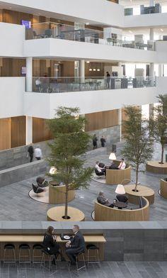 Gallery of Nordea's Danish Headquarters / Henning Larsen - 11 Architecture Design, Cultural Architecture, Modern Architecture House, Sustainable Architecture, Architecture Diagrams, Architecture Portfolio, Henning Larsen, Hotel Lobby Design, Mall Design