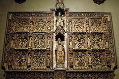 Pere Oller, Retablo de la Catedral de Vic, h.1420.  - Escultura gótica de la Corona de Aragón S.XIV-XV.