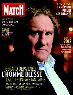 Paris Match n° 3318 du 20 décembre 2012, édition iPad, avec Gérard Depardieu en couverture. Richard Branson, Jean Marie, Paris Match, France, Ipad, Magazine, Cover, Cover Pages, French Actress
