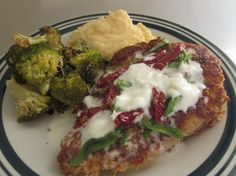BJ's Restaurant Parmesan Crusted Chicken. serve it with the white cheddar mashed potato