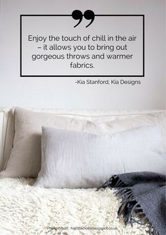 Enjoy the touch of chill in the air – it allows you to bring out gorgeous throws and warmer fabrics. Read more tips for transitioning your home from summer to autumn here: https://nyde.co.uk/blog/transition-home-summer-autumn/