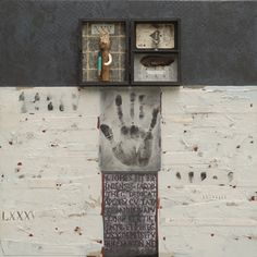 "Donna Watson, Authenticity, mixed media, 24""x24"", 2005"