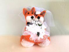 Wedding bouquet wedding gift wedding cake topper by Felt4Soul