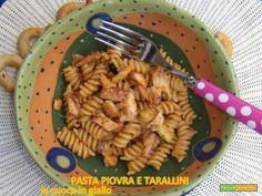 Pasta piovra alla piastra e taralli  #ricette #food #recipes