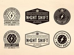 Night Shift Work - Rejects \\ Dribbble \\ Designed by Jonathan Schubert